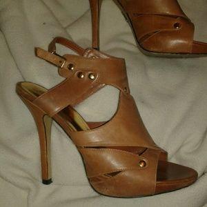 Bakers Leather Gladiator Heels